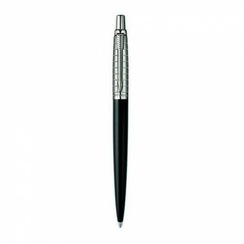 Шариковая ручка Parker Jotter Satin Black Stainless Steel Chiselled 15 332B
